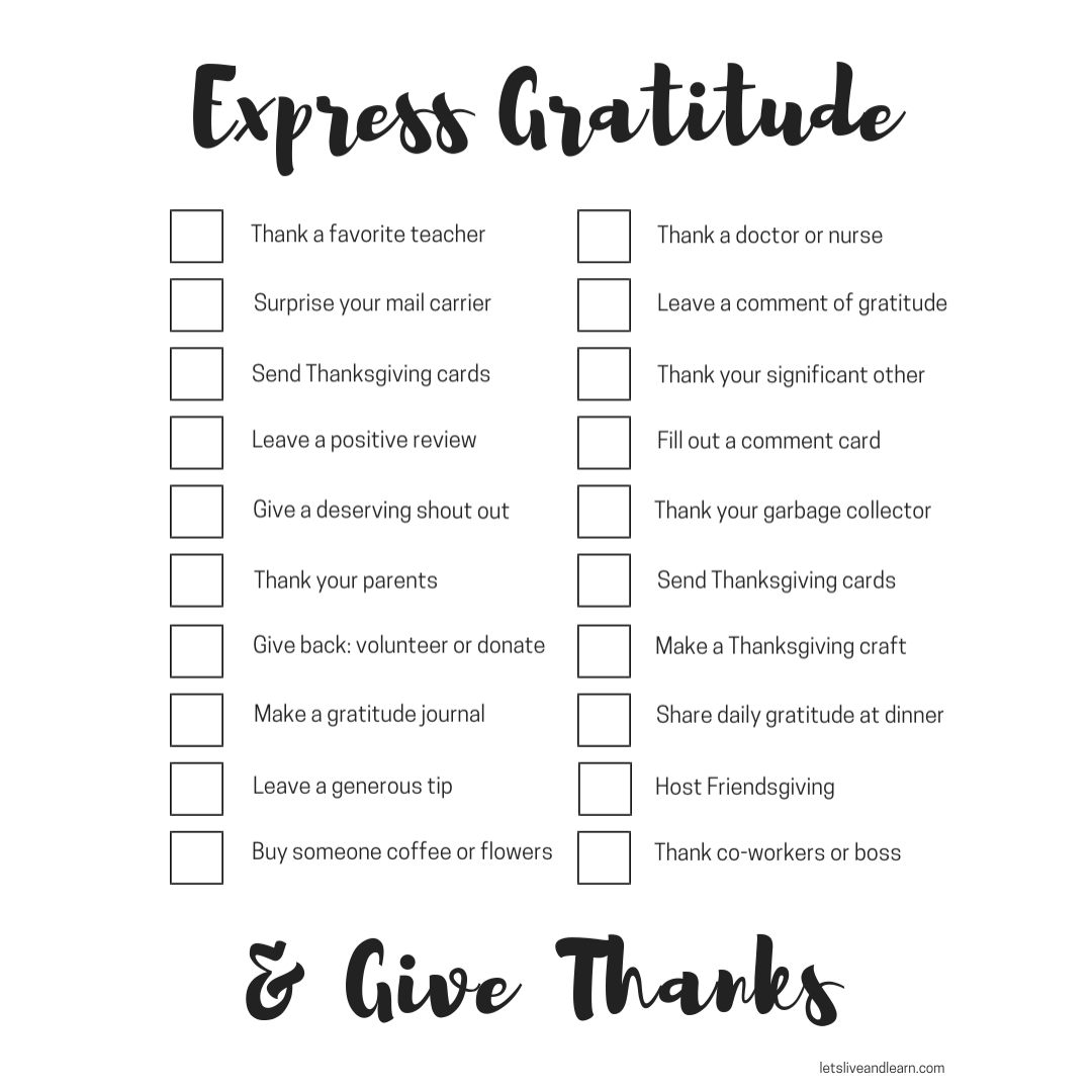 20 Ways To Give Thanks And Express Gratitude (with Free