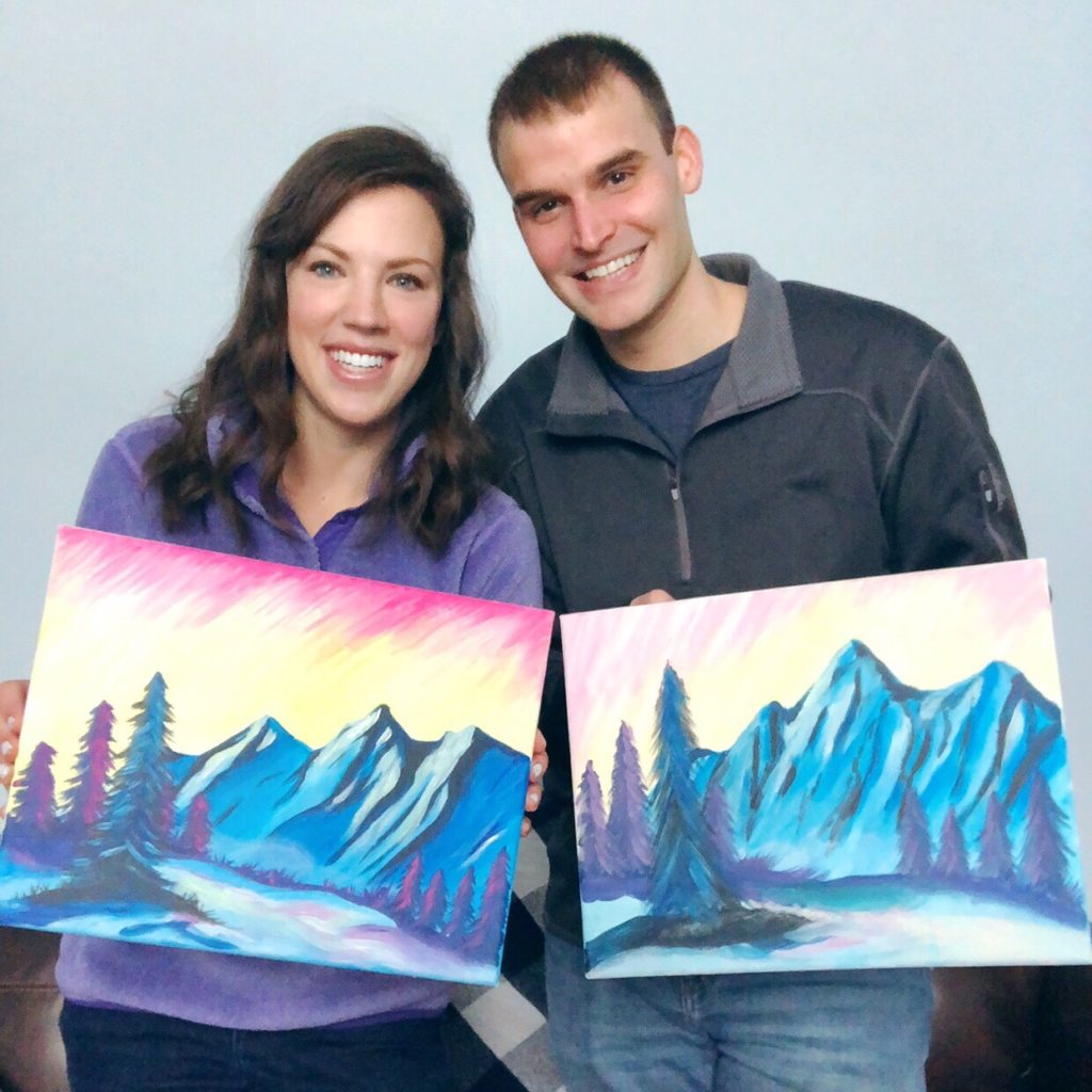 At Home Paint Night Date Let S Live And Learn