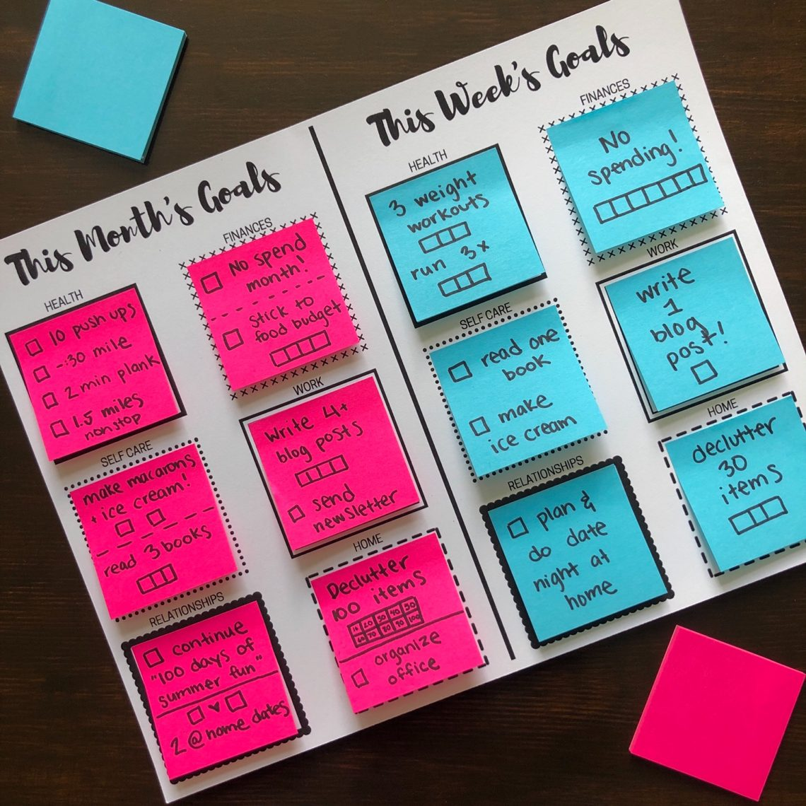 photograph regarding Printable Post Its called Sticky Take note Intent Environment Printables Permits Stay and Discover