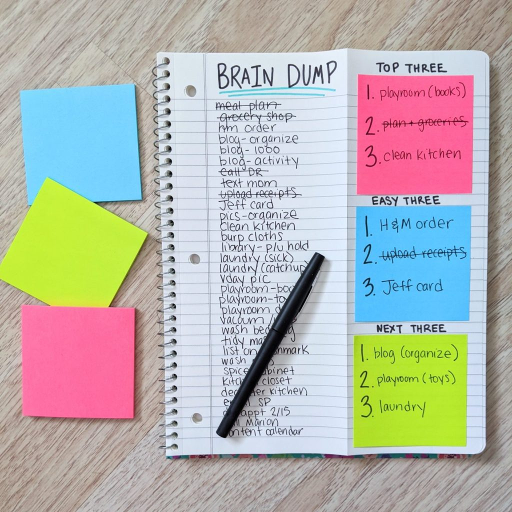 8 Easy Brain Dump Ideas